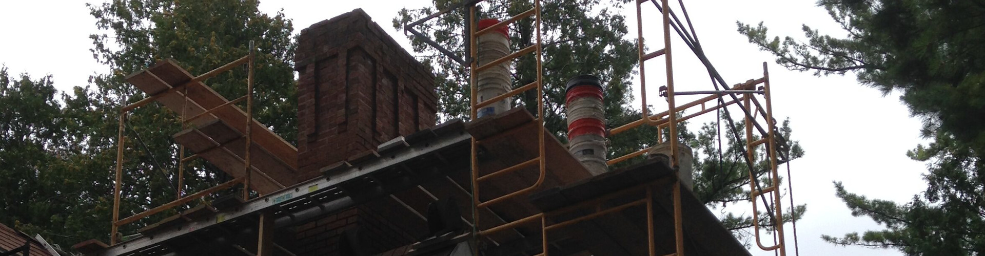 chimney, scaffolding